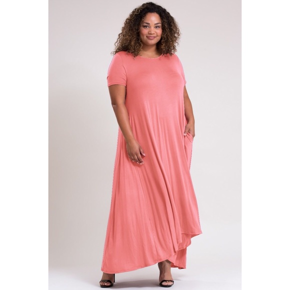 🌻2 for $20🌻 PLUS SIZE: Dusty Pink Maxi Dress Boutique